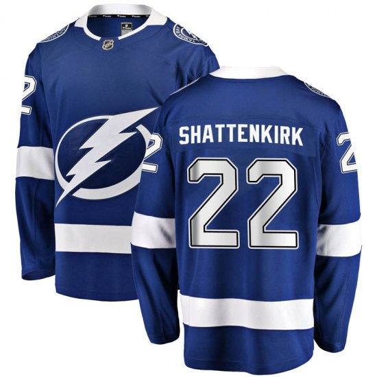 Kevin Shattenkirk Tampa Bay Lightning Youth Breakaway Home Fanatics Branded Jersey - Blue