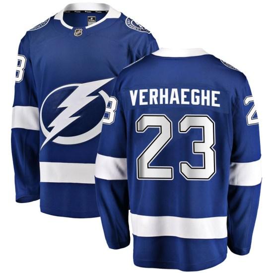 Carter Verhaeghe Tampa Bay Lightning Youth Breakaway Home Fanatics Branded Jersey - Blue