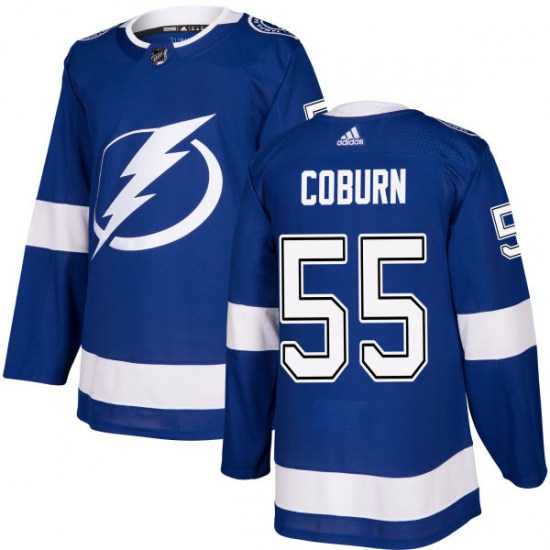 Braydon Coburn Tampa Bay Lightning Authentic Adidas Jersey - Blue