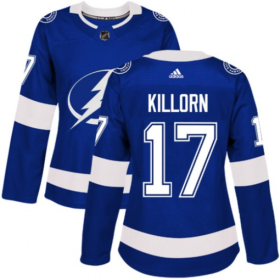 Alex Killorn Tampa Bay Lightning Women's Authentic Home Adidas Jersey - Royal Blue