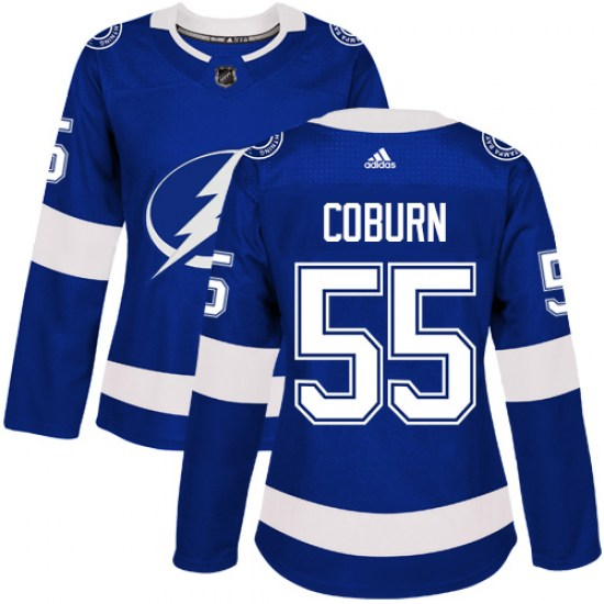 Braydon Coburn Tampa Bay Lightning Women's Authentic Home Adidas Jersey - Royal Blue
