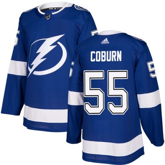 Braydon Coburn Tampa Bay Lightning Youth Authentic Home Adidas Jersey - Royal Blue