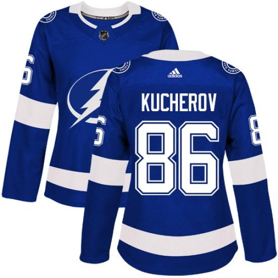 Nikita Kucherov Tampa Bay Lightning Women's Authentic Home Adidas Jersey - Royal Blue