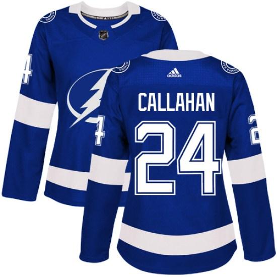Ryan Callahan Tampa Bay Lightning Women's Authentic Home Adidas Jersey - Royal Blue
