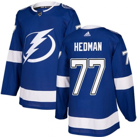 Victor Hedman Tampa Bay Lightning Youth Authentic Home Adidas Jersey - Royal Blue