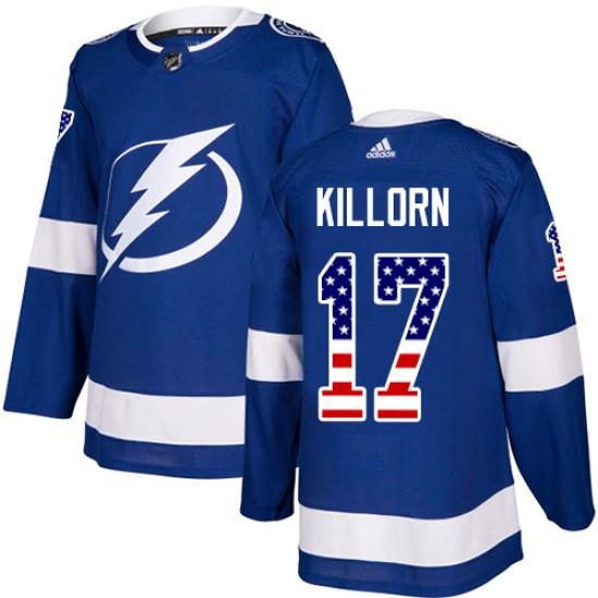 Alex Killorn Tampa Bay Lightning Youth Authentic USA Flag Fashion Adidas Jersey - Blue