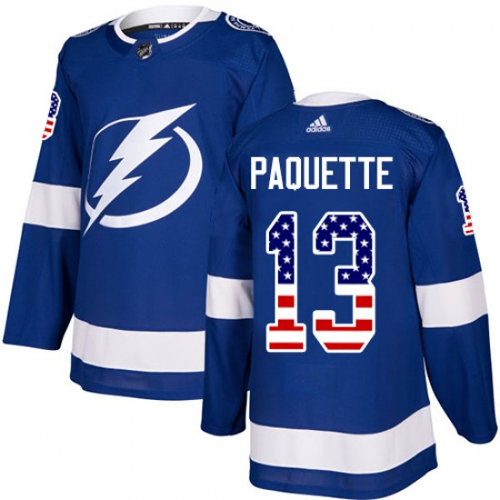 Cedric Paquette Tampa Bay Lightning Authentic USA Flag Fashion Adidas Jersey - Blue