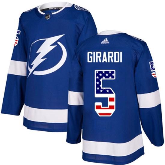 Dan Girardi Tampa Bay Lightning Authentic USA Flag Fashion Adidas Jersey - Blue