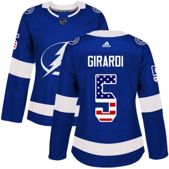 Dan Girardi Tampa Bay Lightning Women's Authentic USA Flag Fashion Adidas Jersey - Blue