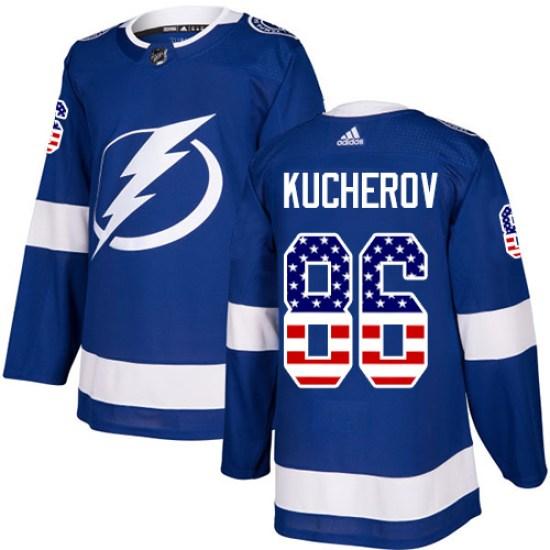 Nikita Kucherov Tampa Bay Lightning Authentic USA Flag Fashion Adidas Jersey - Blue