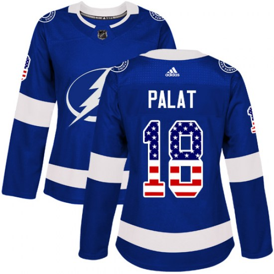 Ondrej Palat Tampa Bay Lightning Women's Authentic USA Flag Fashion Adidas Jersey - Blue