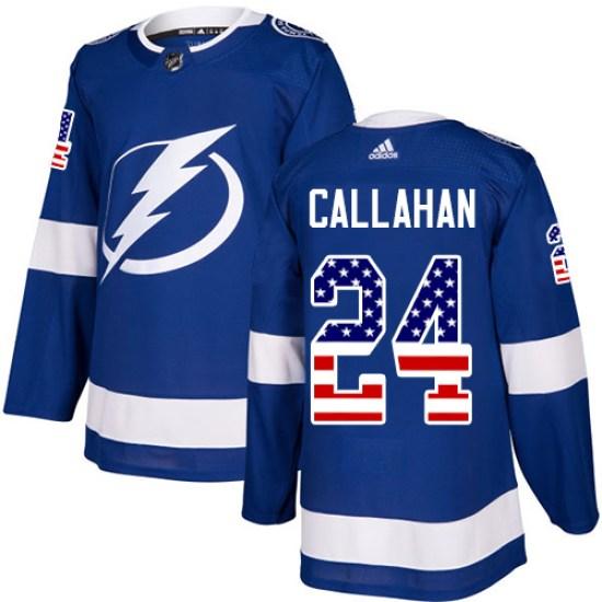 Ryan Callahan Tampa Bay Lightning Authentic USA Flag Fashion Adidas Jersey - Blue