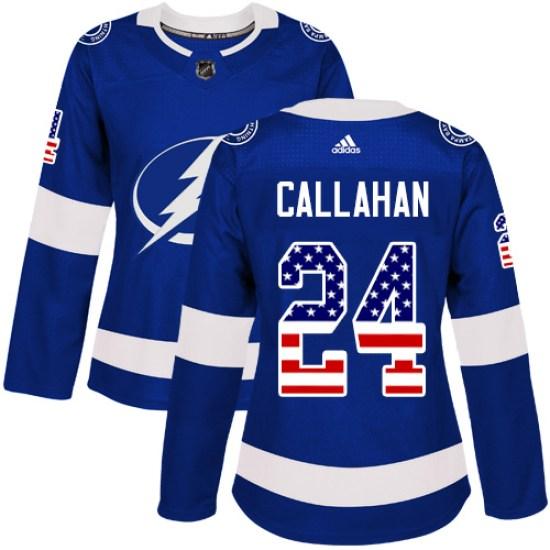 Ryan Callahan Tampa Bay Lightning Women's Authentic USA Flag Fashion Adidas Jersey - Blue