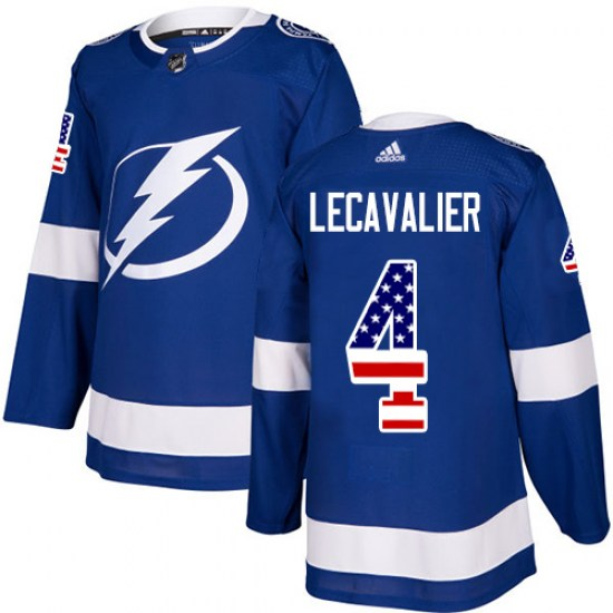 Vincent Lecavalier Tampa Bay Lightning Authentic USA Flag Fashion Adidas Jersey - Blue