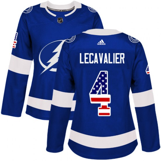 Vincent Lecavalier Tampa Bay Lightning Women's Authentic USA Flag Fashion Adidas Jersey - Blue